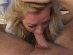50 y.o. Blonde Mature Lady HOT SEX (POV)