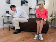 Skinny Teen Blonde Is Anally Invaded For The First Time.