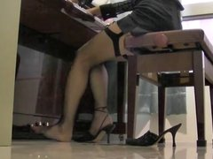 stockings and piano