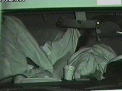 Secret inside of dark car