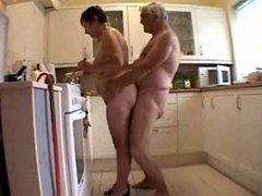 granny in the kitchen