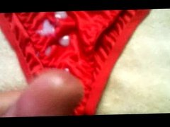 red panties (4 times)