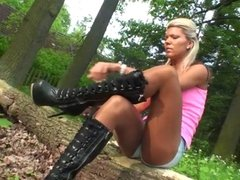 LGH - German Tamia - Outdoor Boots und Glanz Strumpfhose