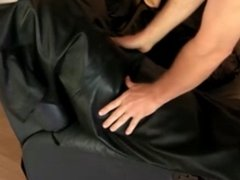 leather dress humping