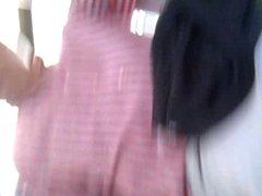 Short white dress.