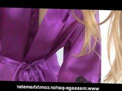 Skinny Teen Avril Hall Massage and Blowjob