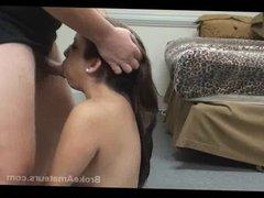 Amateur girl facial