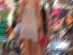Blonde Upskirt No Panties