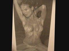 Heidi Klum vollgespritzt (tribute)