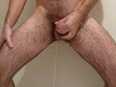 Amateur handjob in shower