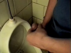 Jerking in a toilet
