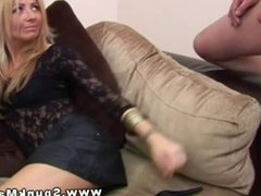 CFNM babes have a quite game of tug cock while chatting