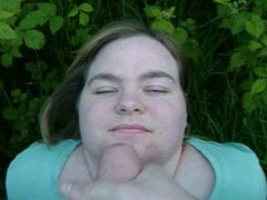 BBW Vicky from Tameside loves facials and Dogging