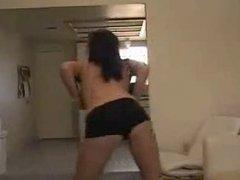 Hot Brunette Amateur Teen Strip Dance