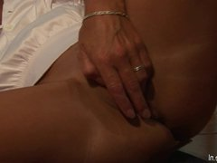 European mature wife playing with herself