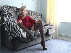 Old sexy 70y.o, granny loves to play