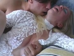 Blonde Gets Anal Pounding