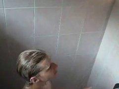 Public shower - Voyeur busted ! Heyyy ! :-)