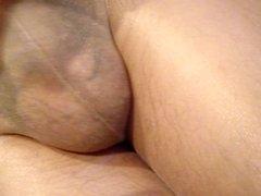 Masturbation in pantyhose