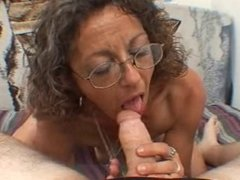Sexy Mature MILF Candy Gives A Blowjob