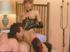 Domina has fun with her slaves