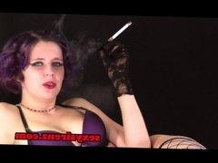 Nadine Purple Lingerie Cigarette Holder