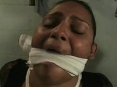 Bound and gagged black girl
