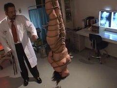 Flogging a Japanese Nurse-Upside down