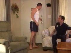 Cop fucks in the garage