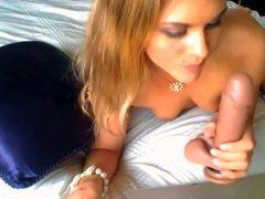 Dildo deepthroat on webcam 4