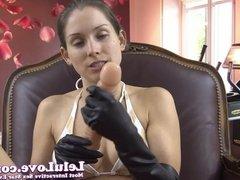Lelu Love-Bikini Latex Gloves Handjob Demo