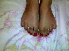 Indian young pretty cute foot job