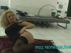 Wild blond chick lapdances in sexy lingerie