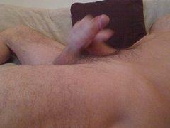 Sofa wank and cumshot