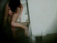 my girlfriend in bathroom part 2