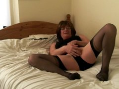 Jenny Smith corset and stockings tranny