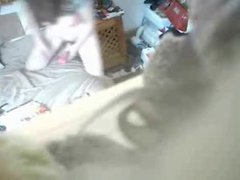 Hidden cam recording my mum masturbating on bed