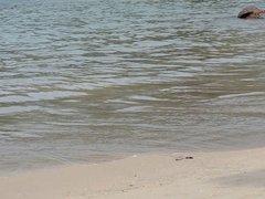 Indian Girl on the beach 1