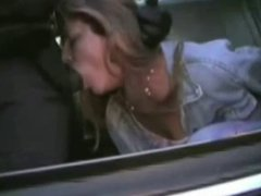 Blowjob girl arrested by cop