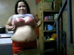Anecitajuela showing her big tits part 1