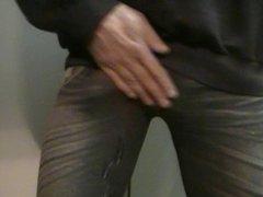 Cum in tight leggings