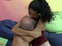 Dominatrix gets off on smothering her slave