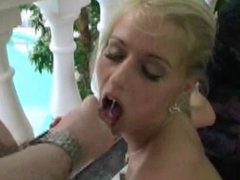 Beautiful blonde gets a facial