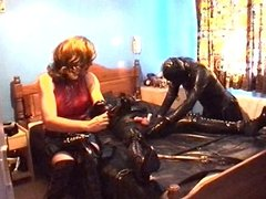 Alison Thighbootboy and her rubber slave - part 2