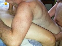 silver daddy get fucked and sucks cock