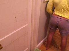Ass spanked with a hairbrush in front of not my sis