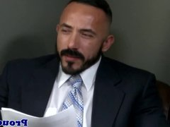 Mature office assfucking hunk in in suit