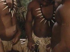 Brunette gets dp by 2 black guys