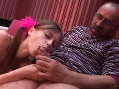 old man young girl - Hot girl with old teacher