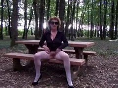 flashing in a wood